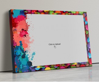 Photo Canvas Frames 20x14 - Water Color Splash Design