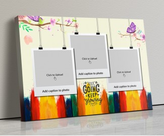 Photo Canvas Frames 20x14 - Keep Going Keep Growing Quotation Design