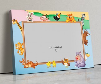 Photo Canvas Frames 20x14 - Cartoon Animals Frame Design