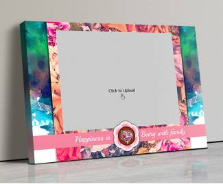 Photo Canvas Frames 20x14 - Happiness With Family Quotation Design