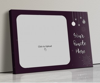 Purple Color Landscape Canvas Frame with Picture and Text - 20x14 Size