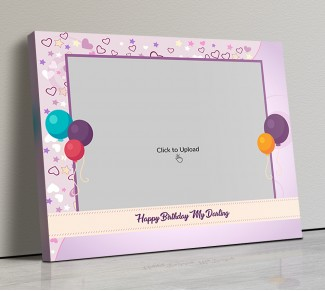 Photo Canvas Frames 20x17 - Birthday Balloons Design