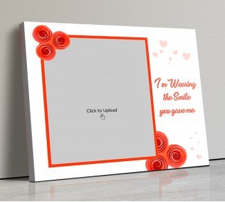 Photo Canvas Frames 20x17 - Orange Flowers With Quotation Design
