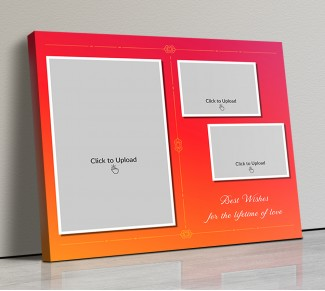 Photo Canvas Frames 20x17 - Pink & Orange Traditional Frame Design