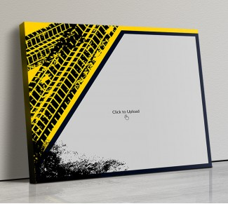 Photo Canvas Frames 20x17 - Yellow Graffiti Frame Design