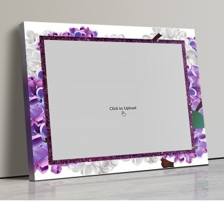Photo Canvas Frames 20x17 - Lavender Floral  Design