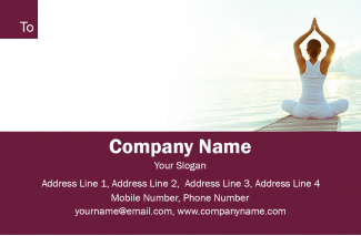 Yoga  Address Labels Design