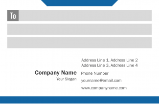 IT Company  Address Labels Design