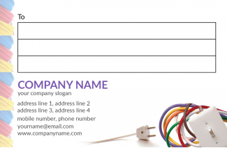 electrical shop Address Labels Design