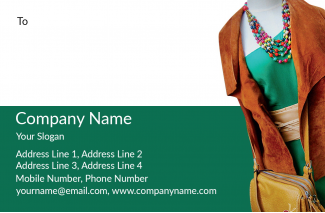 Fashion Designer Address Labels Design