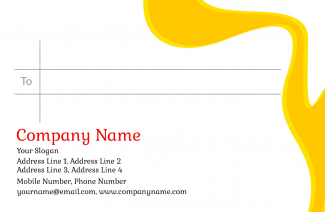 Paint Shop Address Labels Design