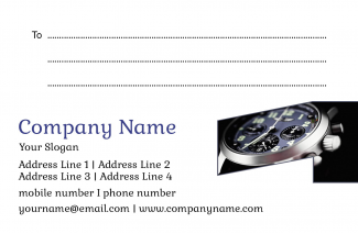 Watch Shop Address Labels Design