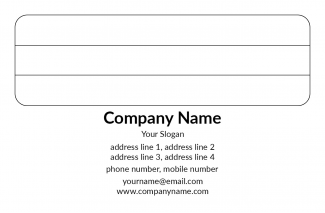 Software Company Address Labels Design