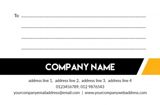 Black And Yellow Address Label