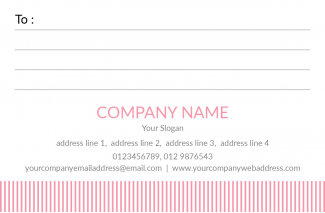 Pink Stripes Address Label