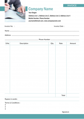 Accountant Bill Book Design