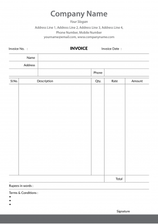 Bill Book / Invoice Designs