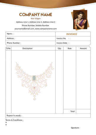 Jewellery Bill Book Design