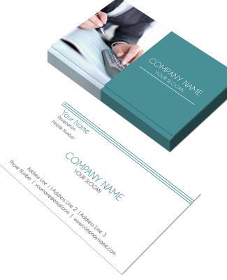 Accountant Horizontal Business Card