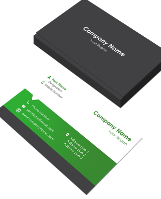 Management Horizontal Business Card