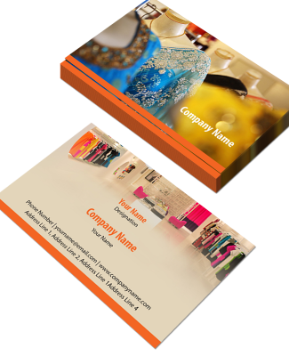 Saree Shop Horizontal Business Card