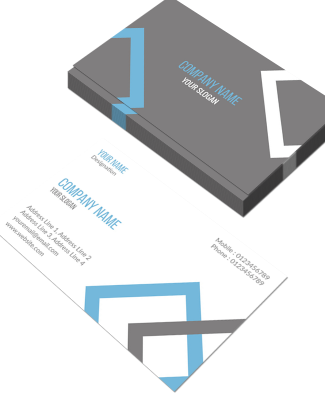 Accountant Horizontal Double Side Business Card