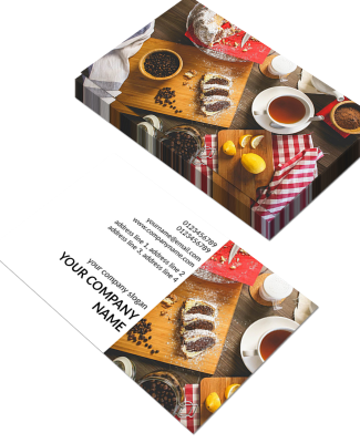Bakery Horizontal Double Side Business Card