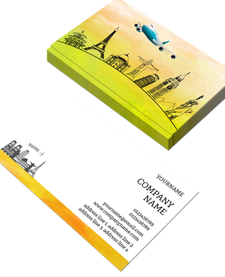 Travel Horizontal Double Side Business Card