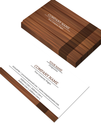 Carpenter Horizontal Double Side Business Card