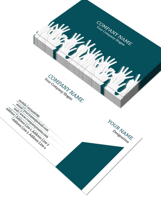 Office Horizontal Double Side Business Card
