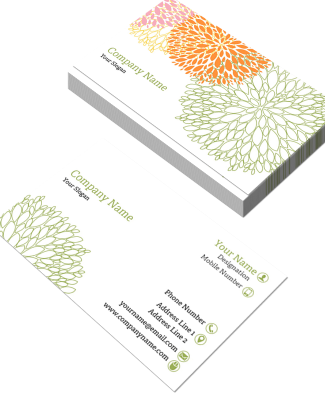 Florist Horizontal Double Side Business Card