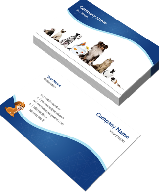 Pet Clinic Horizontal Double Side Business Card
