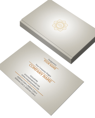 Premium Horizontal Double Side Business Card