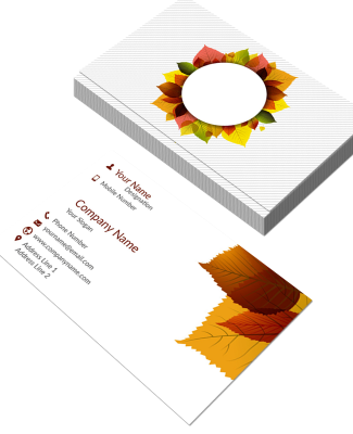 Interior Designer Horizontal Double Side Business Card