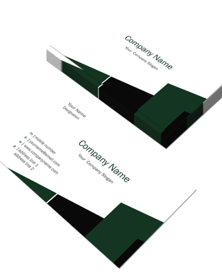 Construction Horizontal Double Side Business Card