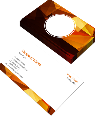 Artist Horizontal Double Side Business Card