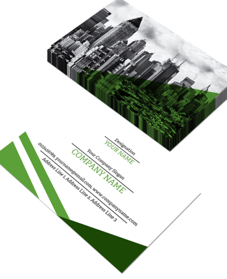 Green Horizontal Double Side Business Card