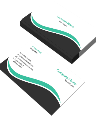 Pattern Horizontal Double Side Business Card