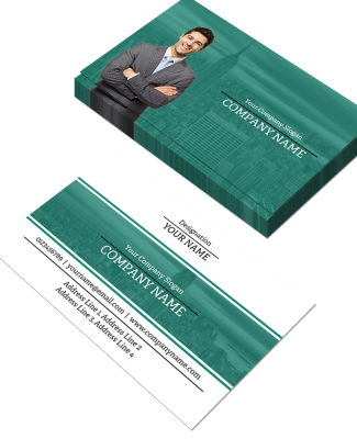 Architect Horizontal Double Side Business Card