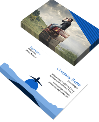 Travel Agency Horizontal Double Side Business Card