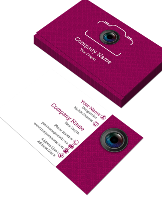 Photographer  Horizontal Double Side Business Card