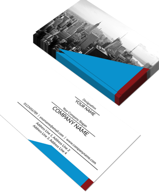 Content Horizontal Double Side Business Card