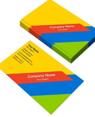 Colorful Horizontal Double Side Business Card