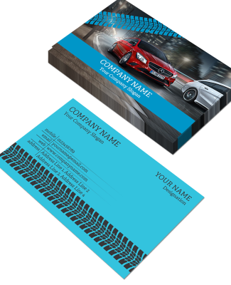 Tyre Dealers Horizontal Double Side Business Card