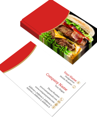 Red Horizontal Double Side Business Card