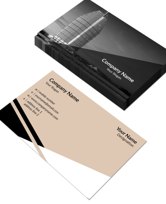 Contractor Horizontal Double Side Business Card