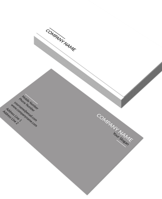 Grey Horizontal Double Side Business Card