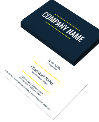 Plain Horizontal Double Side Business Card