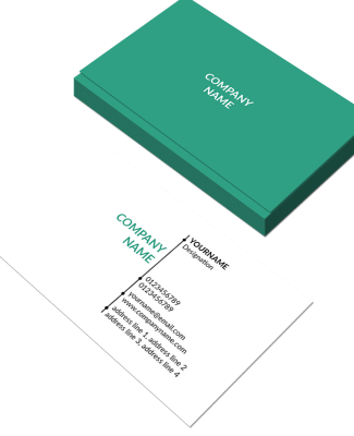 Simple Horizontal Double Side Business Card