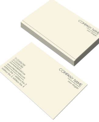 Creamish Horizontal Double Side Business Card